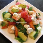 Watermelon & Shrimp Salad