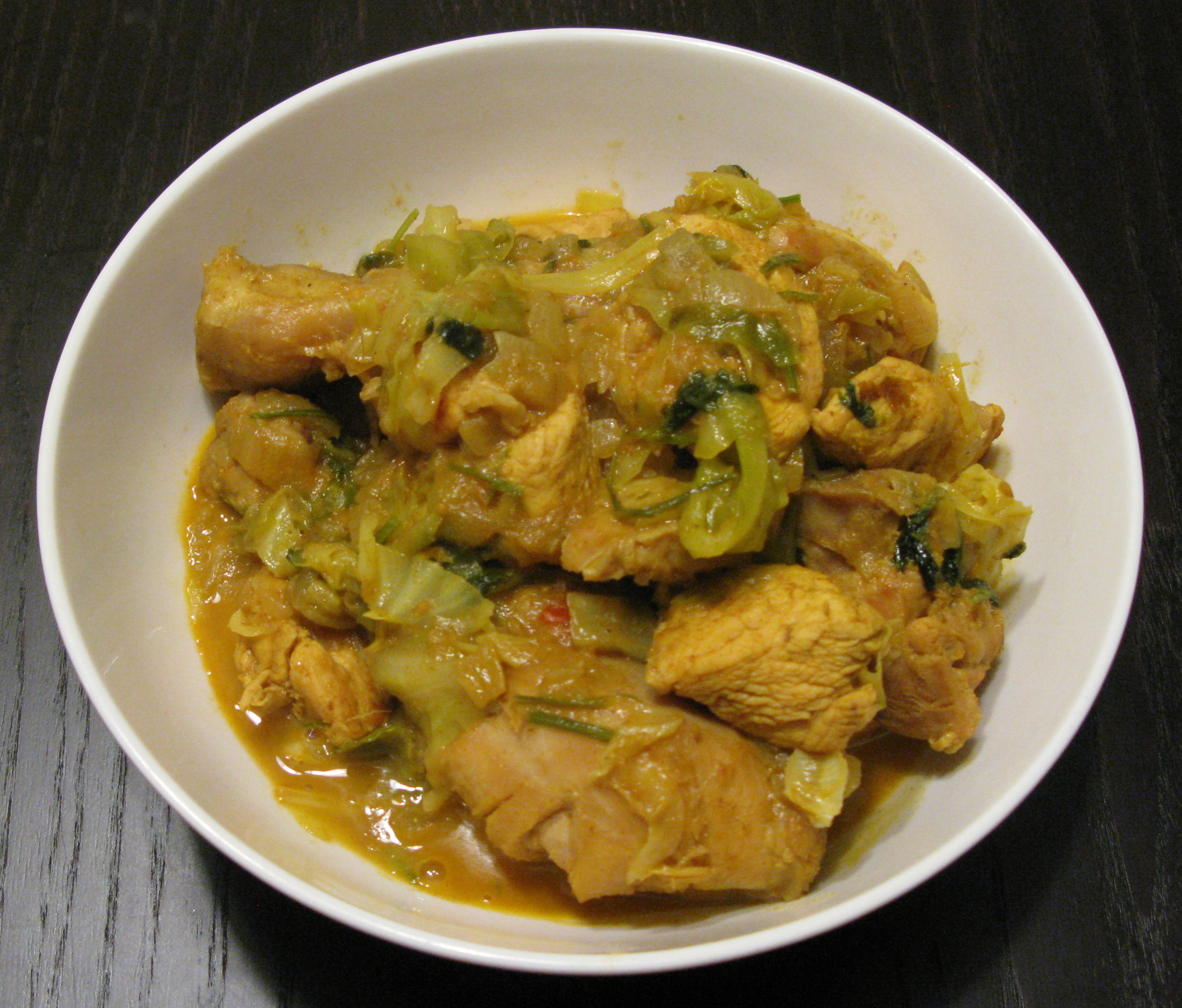 CHICKEN-CABBAGE CURRY
