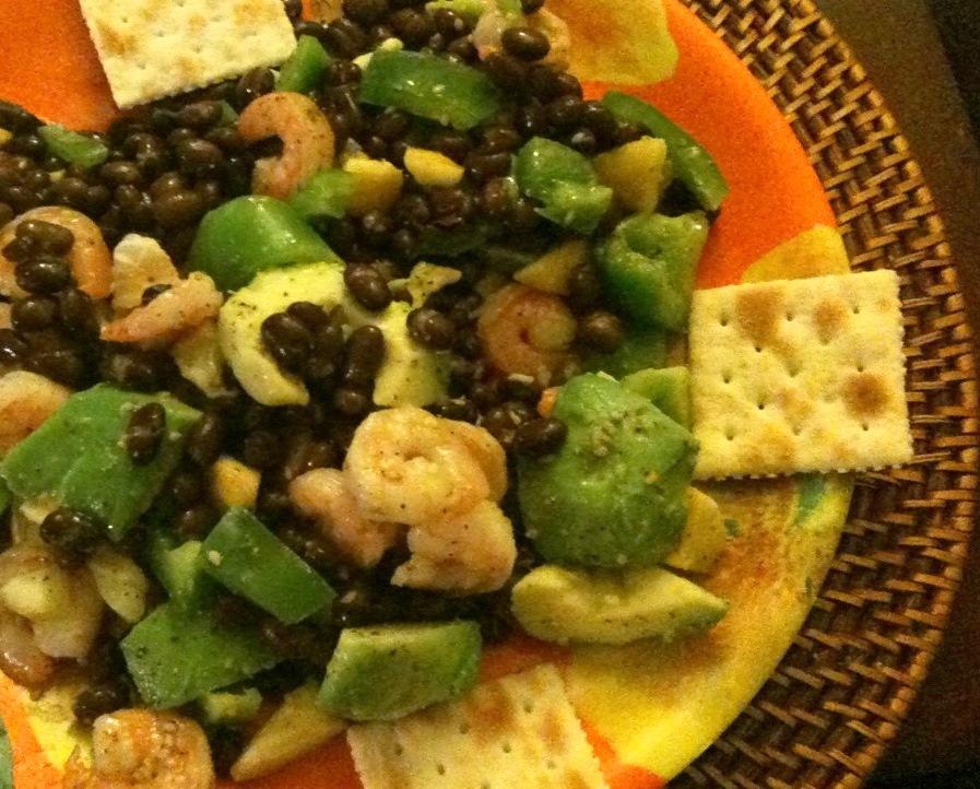 Shrimp, Avocado & Black Bean Salad | DeshiGrub.com